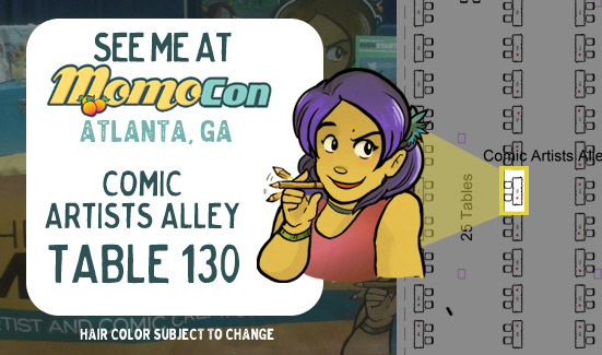 Come see me at Momocon!