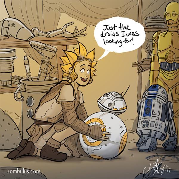 Star Wars AU Rana loves all her droids